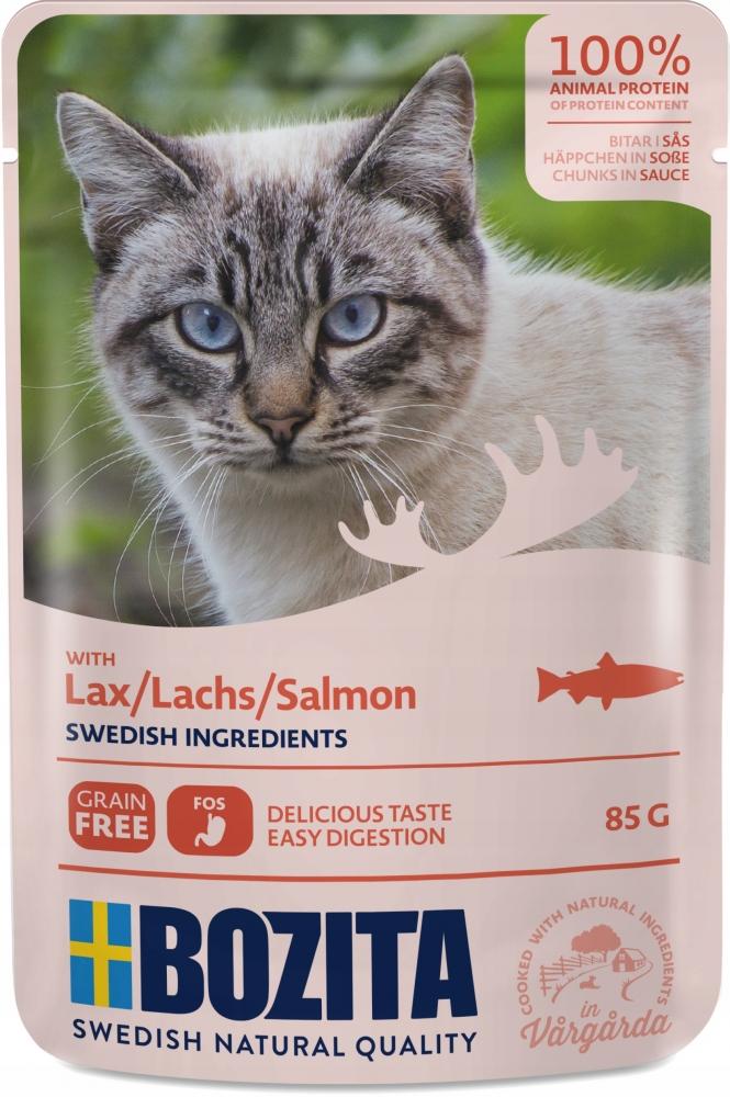 Zdjęcie Bozita Saszetka dla kota  łosoś w sosie 85g