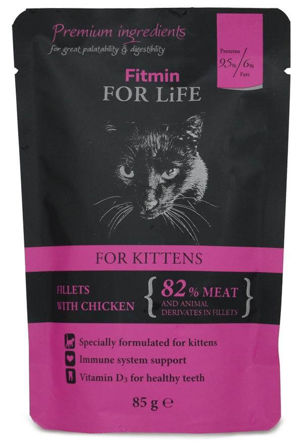 Zdjęcie Fitmin For Life Kitten saszetka dla kociąt  filety z kurczakiem 85g