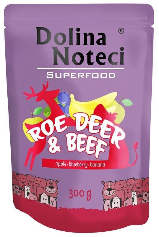 Zdjęcie Dolina Noteci Superfood saszetka dla psa  sarna, wołowina 300g