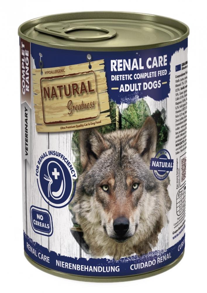 Zdjęcie Natural Greatness Renal Care puszka dla psa  niewydolność nerek 400g