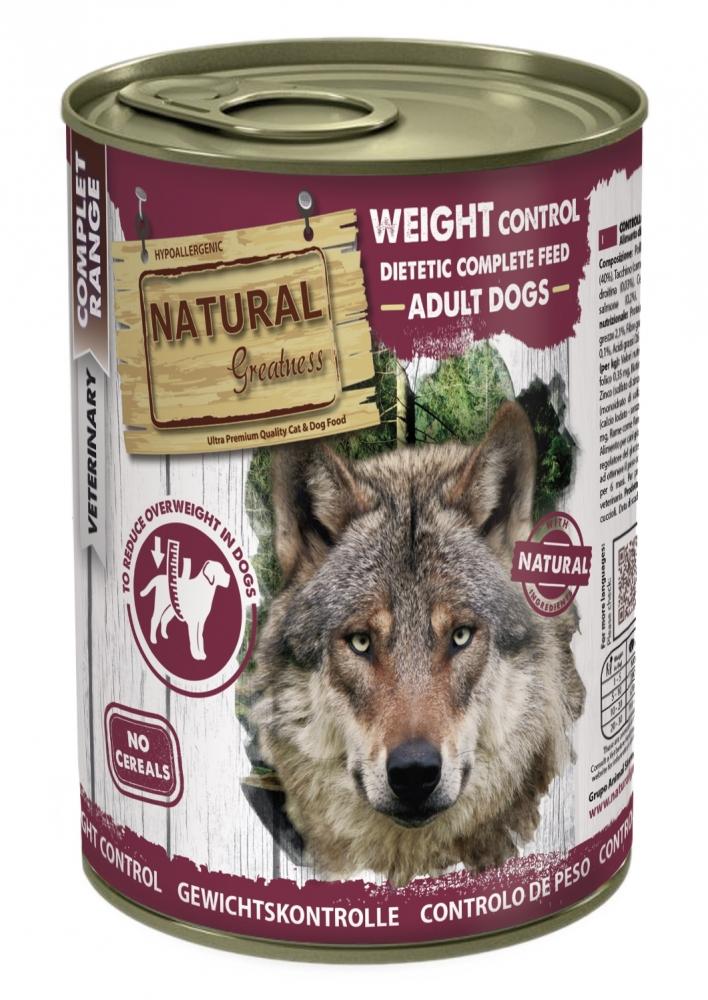 Zdjęcie Natural Greatness Weight Control puszka dla psa  odchudzająca 400g