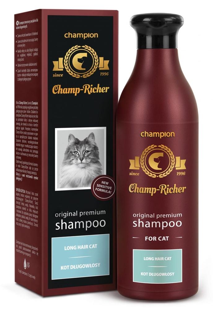 Zdjęcie Champ-Richer Original Premium Shampoo Long Hair Cat  szampon dla kotów długowłosych 250ml