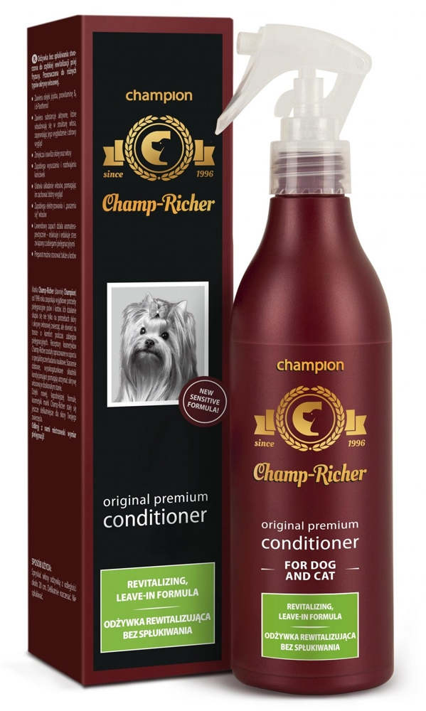 Champ-Richer Original Premium Conditioner fot Dog and Cat Revitalizing Leave-On Formula odżywka rewitalizująca bez spłukiwania 250 ml