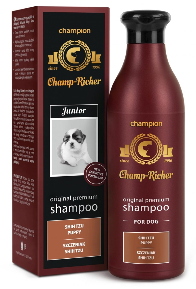 Zdjęcie Champ-Richer Original Premium Shampoo for Shih Tzu Puppy  szampon dla szczeniąt rasy shith tzu 250 ml