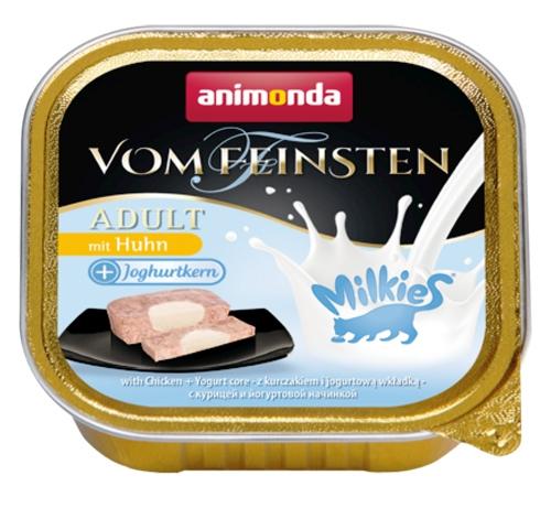 Zdjęcie Animonda Vom Feinsten Adult Milkies tacka z kurczakiem + farsz jogurtowy 100g