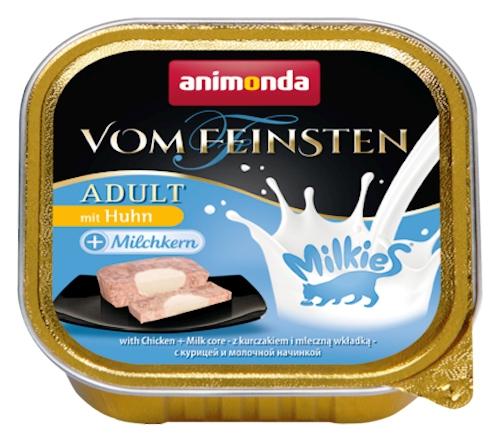 Zdjęcie Animonda Vom Feinsten Adult Milkies tacka z kurczakiem + farsz mleczny 100g