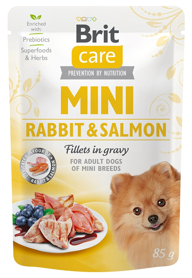 Zdjęcie Brit Care Dog Mini saszetka  Rabbit & Salmon  85g