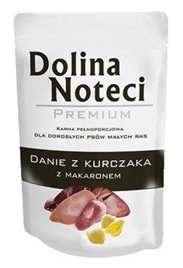 Zdjęcie Dolina Noteci Premium saszetka dla psów małych ras  danie z kurczaka z makaronem 100g