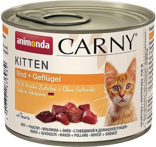 Zdjęcie Animonda Carny Kitten  wołowina + drób 200g