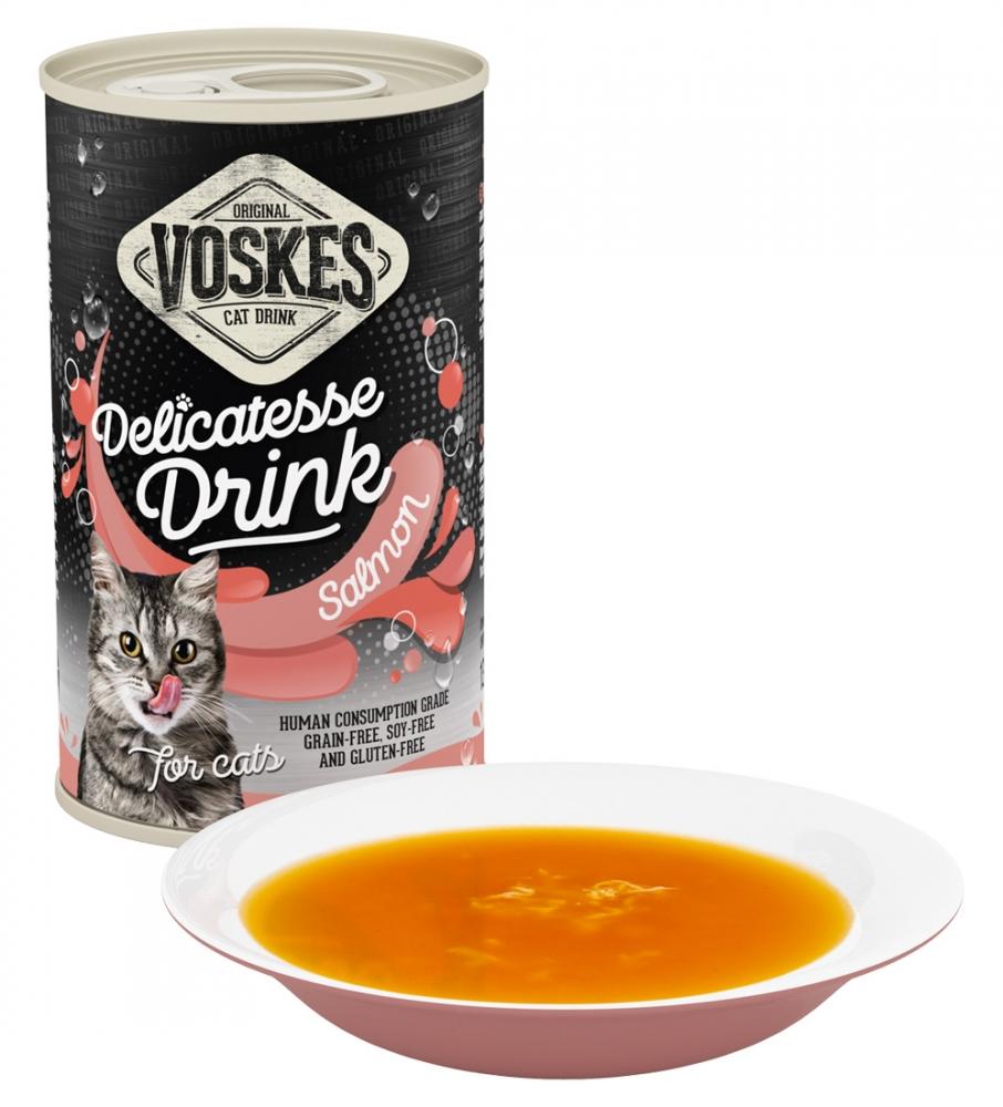 Voskes Delicatesse Cat Drink napój dla kota łosoś 3 szt. x 135g