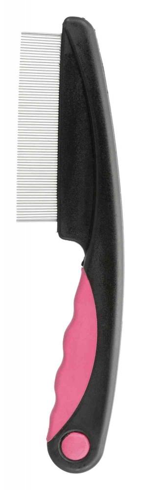 Trixie Grzebień przeciwpchelny dla kotów  różowo-szary 15 cm
