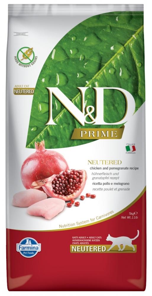 Farmina N&D Prime Grain Free Cat Neutered kurczak i granaty 5kg