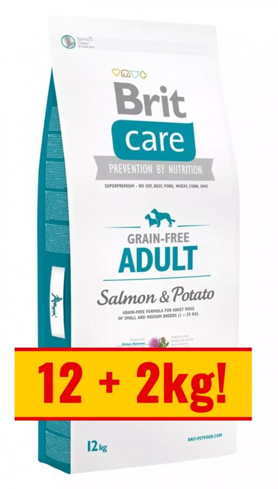 Zdjęcie Brit Care Grain Free Adult All Breed  salmon & potato 12+2kg GRATIS