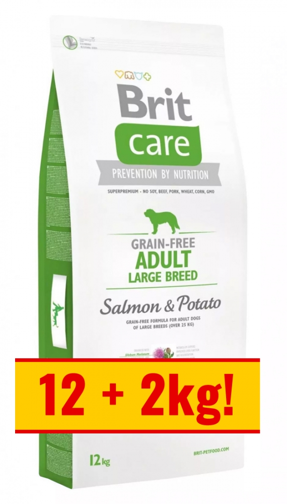 Zdjęcie Brit Care Adult Large Breeds Grain Free  salmon & potato 12+2kg GRATIS