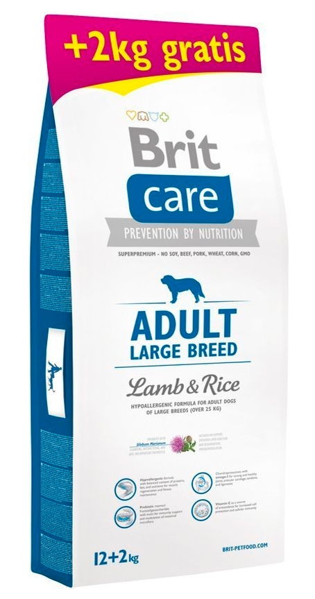 Zdjęcie Brit Care New Adult Large Breeds  lamb & rice 12+2kg GRATIS