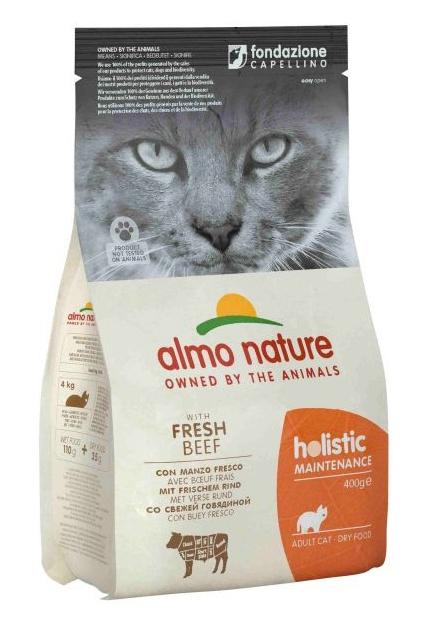 Zdjęcie Almo Nature Holistic Cat Adult  z wołowiną i ryżem 400g