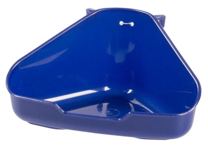 Zdjęcie Duvo + Toaleta narożna dla gryzoni duża  niebieska 37,5x26,5x15,5cm