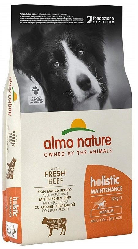 Zdjęcie Almo Nature Holistic Dog Adult Medium  z wołowiną i  ryżem 12kg