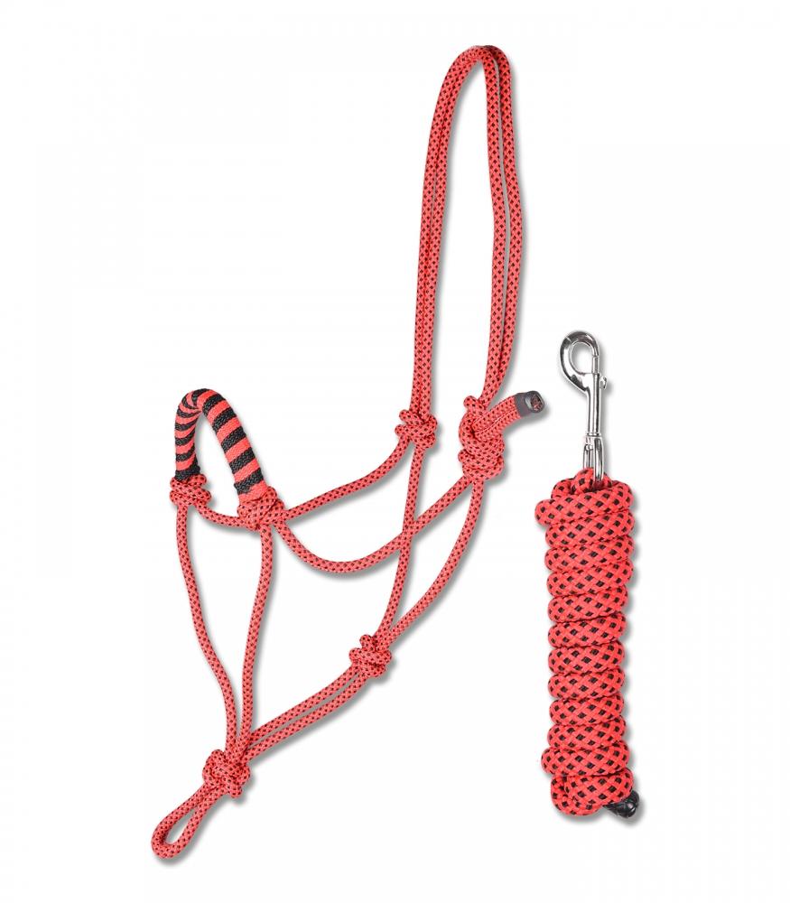 Zdjęcie Waldhausen Kantar sznurkowy z uwiązem  czerwony