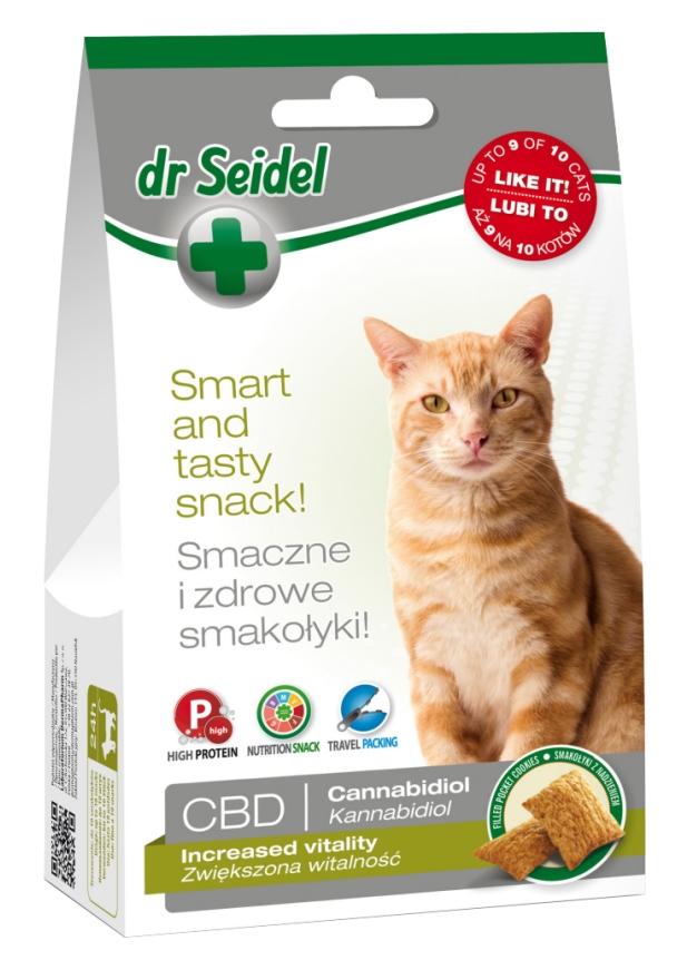 Zdjęcie dr Seidel Smakołyki dla kotów  na zwiększoną witalność 50g