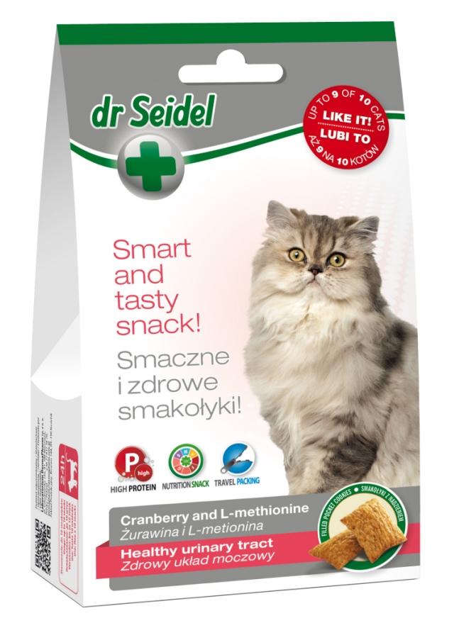 Zdjęcie dr Seidel Smakołyki dla kotów  na zdrowy układ moczowy 50g