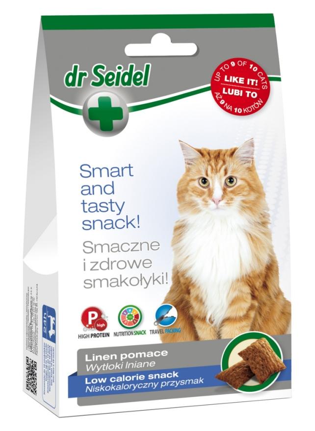 Zdjęcie dr Seidel Smakołyki dla kotów  niskokaloryczne 50g