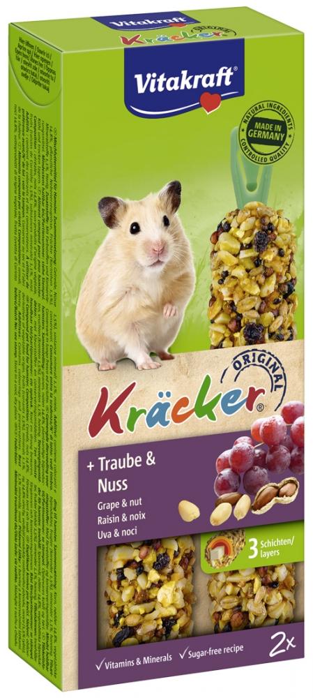 Zdjęcie Vitakraft Kracker Kolby dla chomika  winogrona + orzech 2 szt.