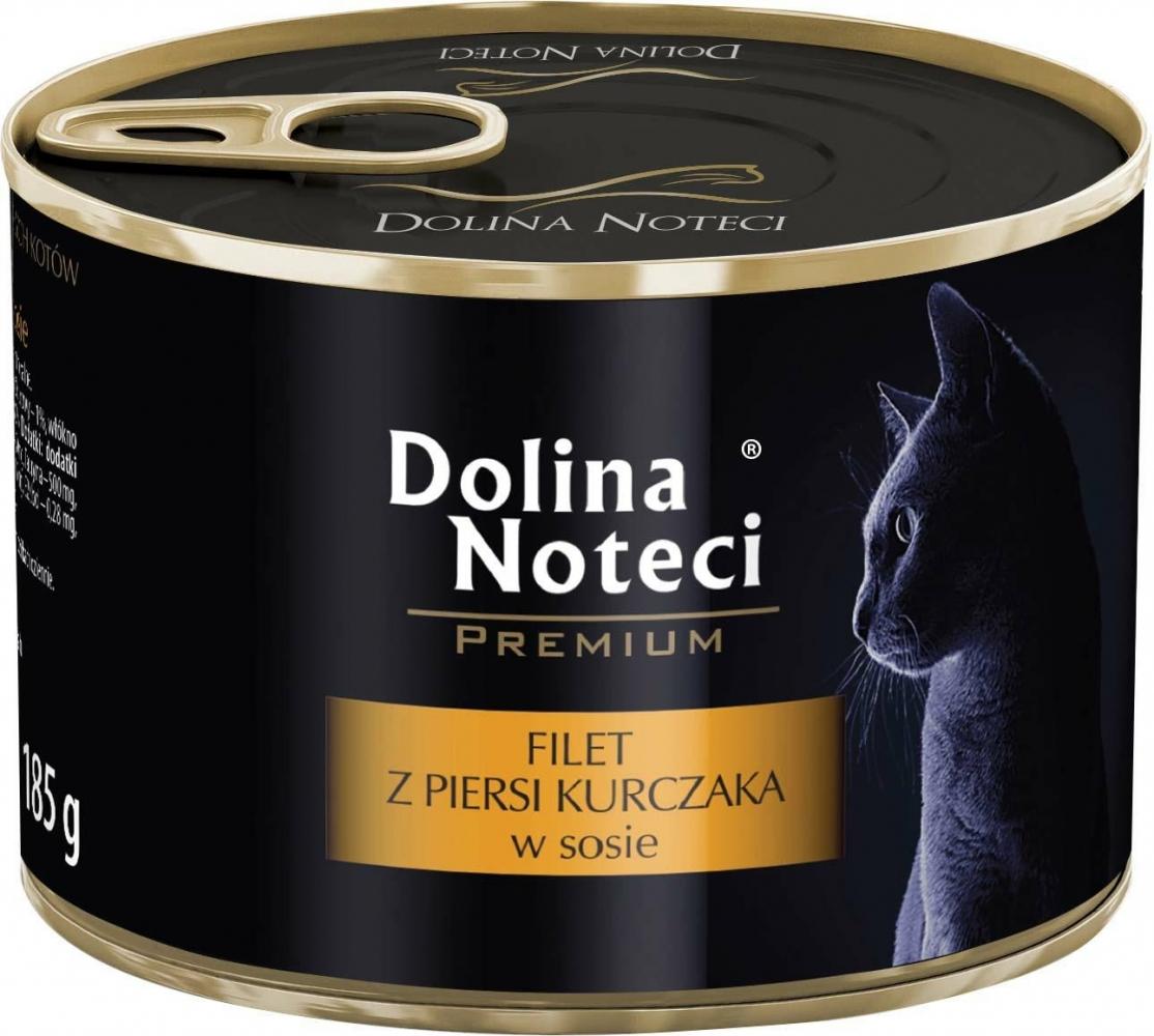 Zdjęcie Dolina Noteci Premium puszka dla kota  filet z piersi kurczaka w sosie 185g