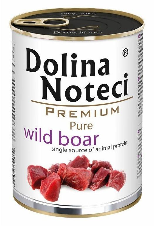 Zdjęcie Dolina Noteci Premium Pure puszka dla psa  dziki dzik 400g