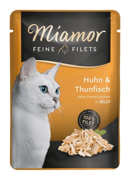 Zdjęcie Miamor Saszetka Feine Filets  kurczak + tuńczyk  100g