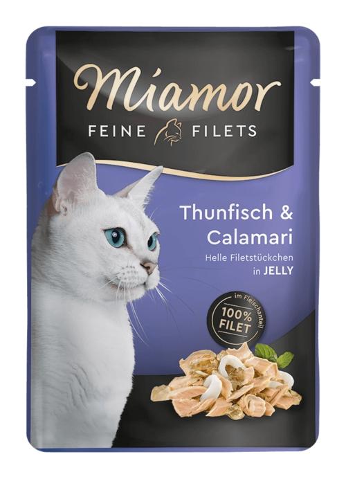 Zdjęcie Miamor Saszetka Feine Filets w galaretce tuńczyk + kalmary 100g