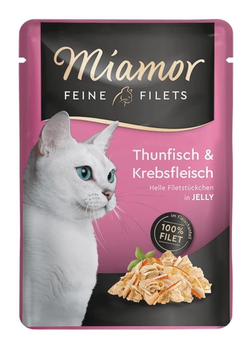 Zdjęcie Miamor Saszetka Feine Filets  tuńczyk + kraby 100g
