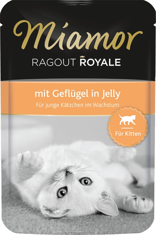 Zdjęcie Miamor Ragout Royale Kitten saszetka  z drobiem 100g