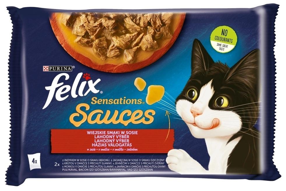 Zdjęcie Felix Czteropak saszetek Sensations Sauces w sosie wiejskie smaki 4x85g