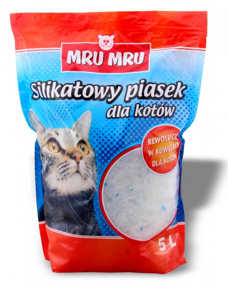 Zdjęcie Mru Mru Żwirek silikonowy  dla kotów 5l