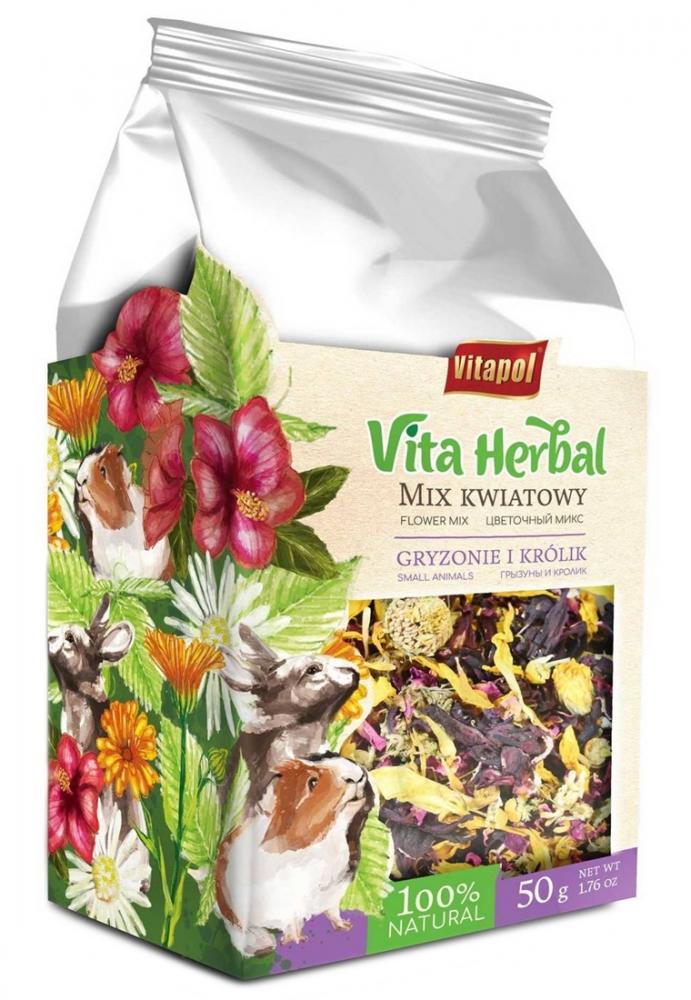 Zdjęcie Vitapol Vita Herbal Mix kwiatowy dla Gryzoni i Królików  50g