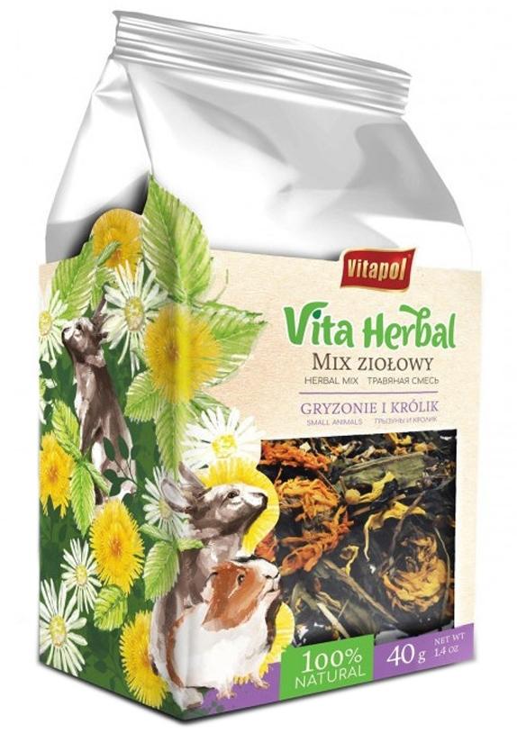 Zdjęcie Vitapol Vita Herbal Mix ziołowy dla Gryzoni i Królików  150g