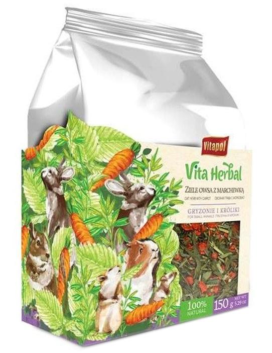 Zdjęcie Vitapol Vita Herbal Ziele owsa z marchewką dla Gryzoni i Królików  150g