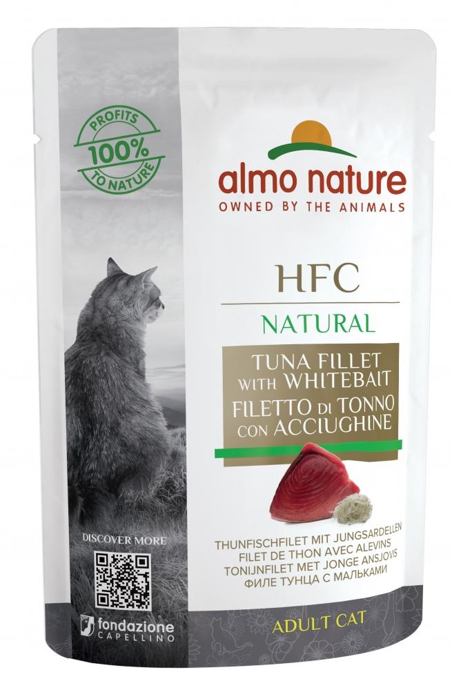Zdjęcie Almo Nature HFC NATURAL Adult Cat saszetka   filet z tuńczyka z młodymi sardynkami 55g