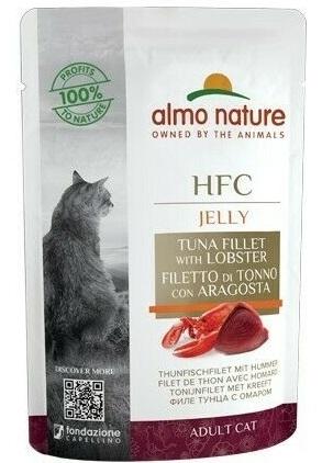 Zdjęcie Almo Nature HFC Adult Cat saszetka Jelly  filet z tuńczyka i homar 55g