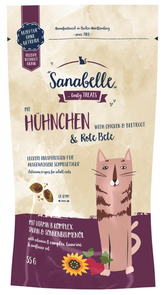 Zdjęcie Sanabelle Snack Crispies  z kurczakiem i buraczkami 55g