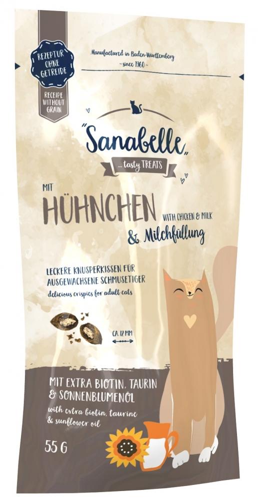 Zdjęcie Sanabelle Snack Crispies  z kurczakiem i mlekiem 55g