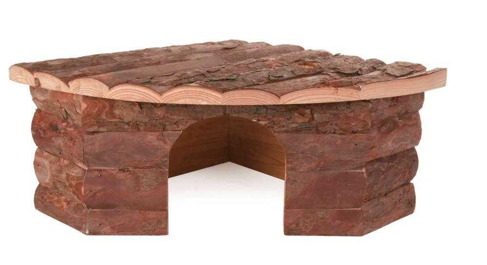 Zdjęcie Trixie Drewniany domek narożny Jesper dla królika 42 × 15 × 30/30 cm