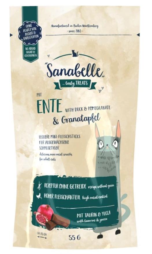 Zdjęcie Sanabelle Snack Sticks  kaczka i granat 55g