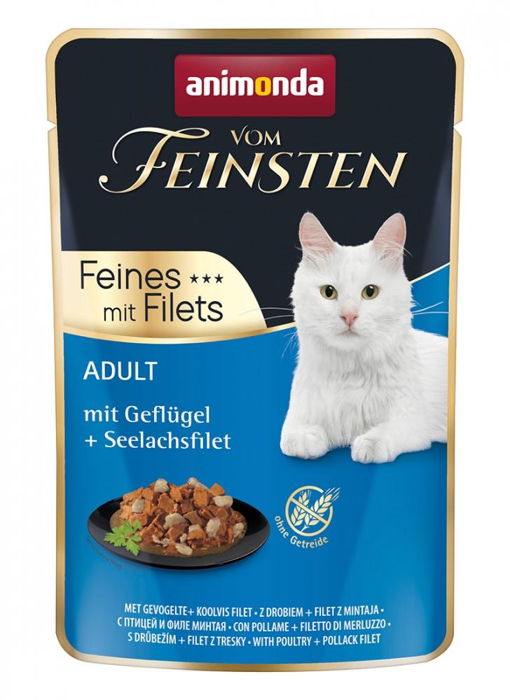 Zdjęcie Animonda Vom Feinsten Feines mit Filets saszetka  drób + filet z mintaja 85g
