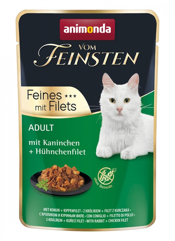 Zdjęcie Animonda Vom Feinsten Feines mit Filets saszetka  królik + filet z kurczaka 85g