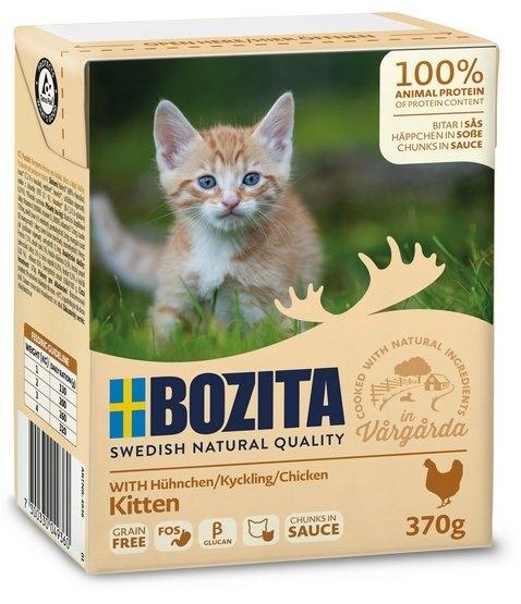 Zdjęcie Bozita Kitten puszka kartonik dla kociąt  kawałki z kurczakiem, w sosie 190g