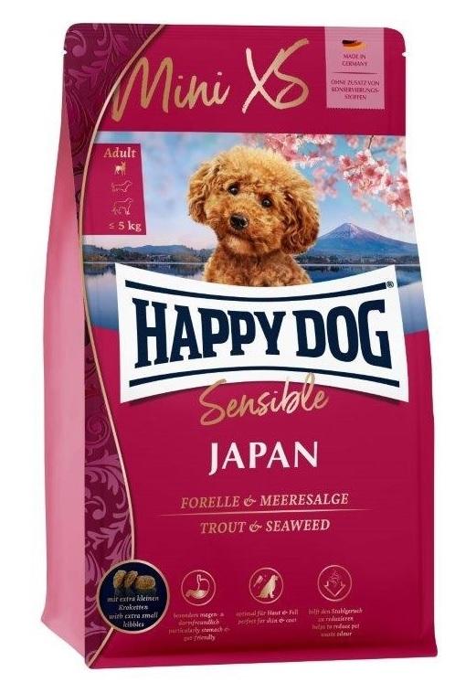 Zdjęcie Happy Dog Sensible Mini Japan dla psów ras małych  kurczak z pstrągiem i wodorostami 300g