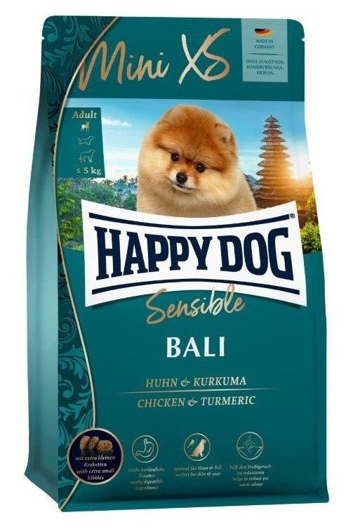 Zdjęcie Happy Dog Sensible Mini Bali dla psów ras małych  kurczak z kurkumą 300g